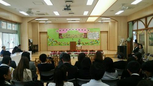 沖縄で息子の通う幼稚園での終了式に行ってきました!